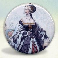 Anne Boleyn Engraving Pocket Mirror