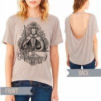 Elizabeth I Pony Open Back T-shirt