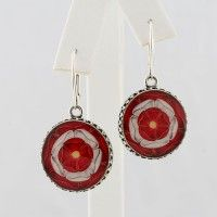 Tudor Rose Round Drop Earrings