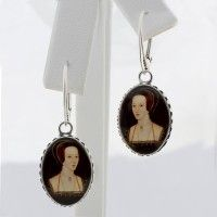 Anne Boleyn Portrait Oval Drop Earrings