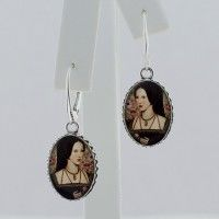 Anne Boleyn Oval Drop Earrings