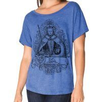 Elizabeth I Tri-Blend Wide Neck Dolman T-shirt