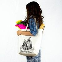 Anne Boleyn Organic Cotton Large Market Tote Bag