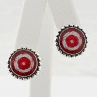 Tudor Rose Round Post Earrings