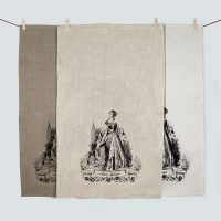Anne Boleyn 100% linen tea towel