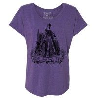 Anne Boleyn Tri-Blend Wide Neck Dolman T-shirt