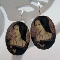 Anne Boleyn Sterling Lever Back Earrings