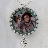 Anne Boleyn and Henry VIII Bottlecap Necklace