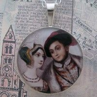 Anne Boleyn and Henry VIII Grandioso Sterling Pendant