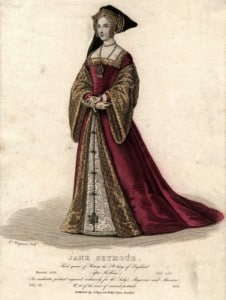 Vintage Engraving - Jane Seymour