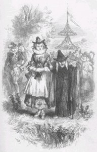 """Anne Redferne and """"Chattox"""" depicted in the novel """"The Lancashire Witches"""""""