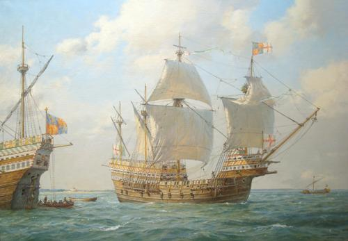 Geoff Hunt's painting of the Mary Rose