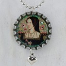 Anne Boleyn Necklace – Bottle Cap Style