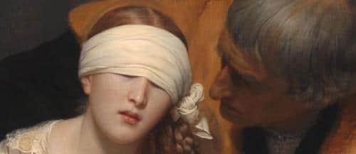 Close-up of Delaroche's The Execution of Lady Jane Grey