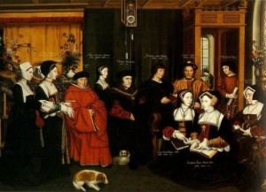 The Family of Sir Thomas More by Rowland Lockey after Hans Holbein the Younger