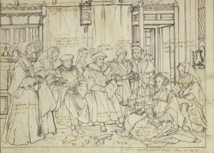 Study for the Family Portrait of Thomas More by Holbein