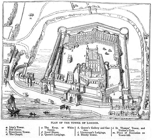 Map Of London 1600.The Tower Of London In Anne S Life The Anne Boleyn Files