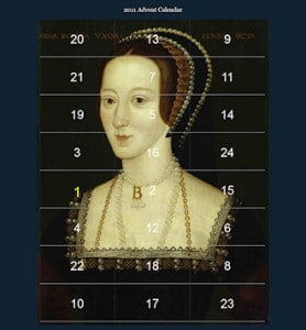 Anne Boleyn Advent Calendar