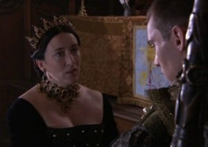 "The Legatine Court scene from ""The Tudors"" series."