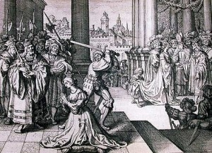Anne Boleyn Execution woodcut