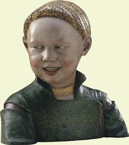 Laughing child thought to be Henry VIII by Guido Mazzoni c.1498