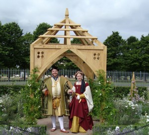 Lauren as Jane Seymour at the Hampton Court Palace Flower Show