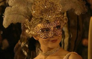 "Natalie Dormer as a masked Anne Boleyn in ""The Tudors"" series."