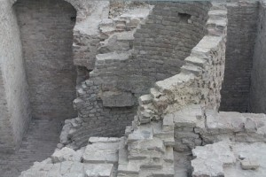 The remains of an 800 year old fountain