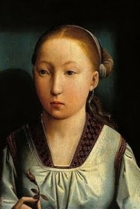 Portait of a girl thought to be Catherine of Aragon by Juan de Flandres.