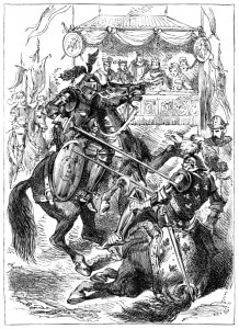 Joust Medieval Illustrationer Parley's Annual for 1880 istock purchase