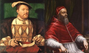 Henry VIII and Pope Clement VII