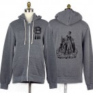 Anne Boleyn Grey Rocky Eco-Fleece Hoodie