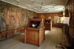 Hever Castle Interior Book of Hours Room