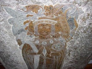 Detail from Thomas Boleyn's brass memorial
