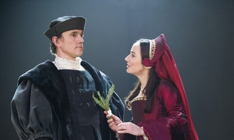 Ben Miles as Thomas Cromwell and Lydia Leonard as Anne Boleyn in the RSC production of Wolf Hall.