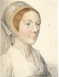 Sketch of unknown woman, said to be Catherine Howard after Holbein
