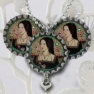 Anne Boleyn Bottlecap Necklace and Earring Set