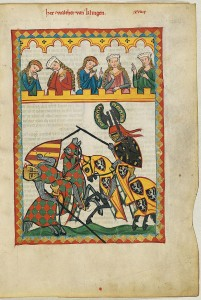 Detail of a 14th century joust from the Codex Manesse