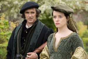Mark Rylance and Claire Foy as Cromwell and Anne in Wolf Hall.
