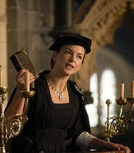 "Emma Stansfield as Anne Askew in ""The Tudors""."