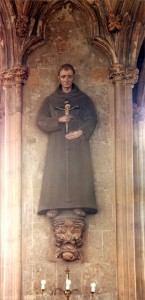 Blessed John Forest, statue at St Ethelreda. Ely Place, London