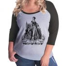 Anne Boleyn Plus Size Raglan Baseball T-shirt